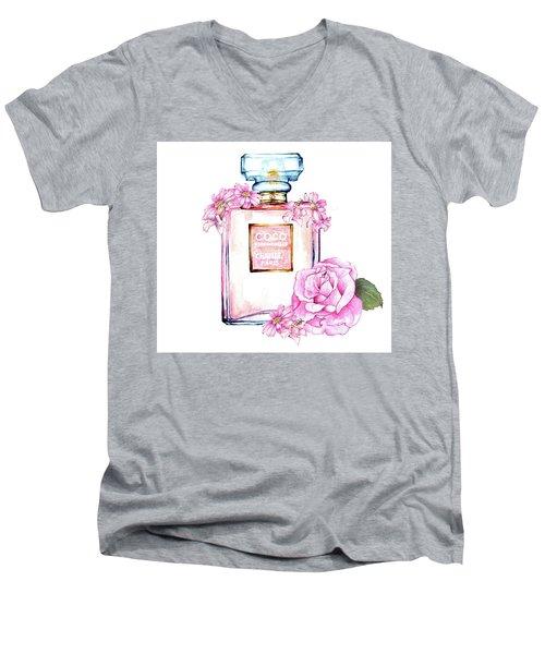 Perfume Florals Men's V-Neck T-Shirt