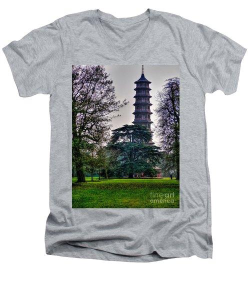 Pergoda Kew Gardens Men's V-Neck T-Shirt