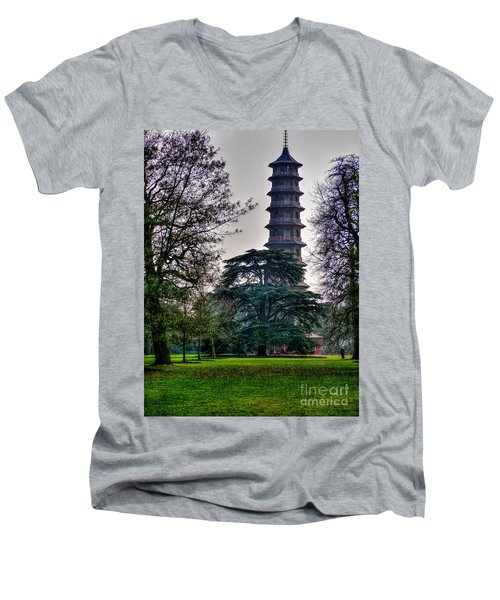 Pergoda Kew Gardens Men's V-Neck T-Shirt