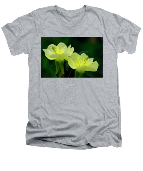 Perky Primroses Men's V-Neck T-Shirt