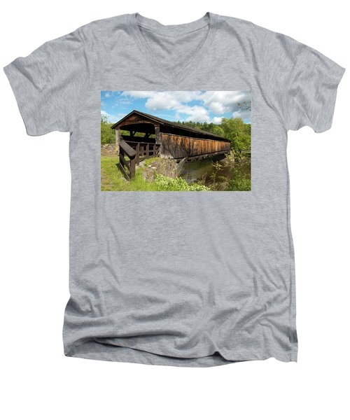 Perrine's Bridge In May Men's V-Neck T-Shirt