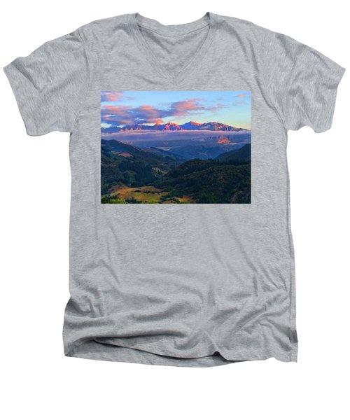 Perrozo Morning Men's V-Neck T-Shirt