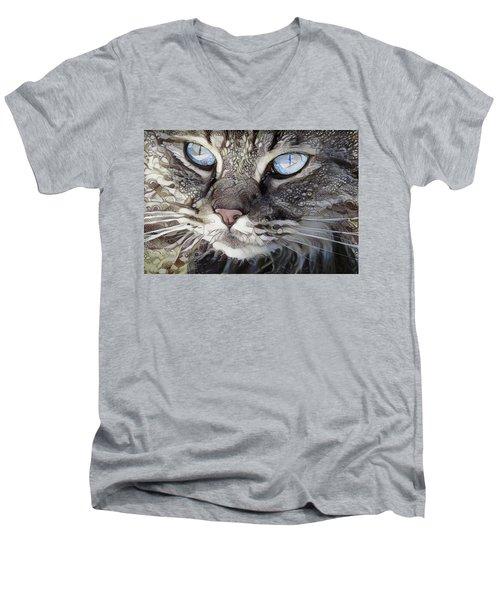 Perry The Persian Cat Men's V-Neck T-Shirt