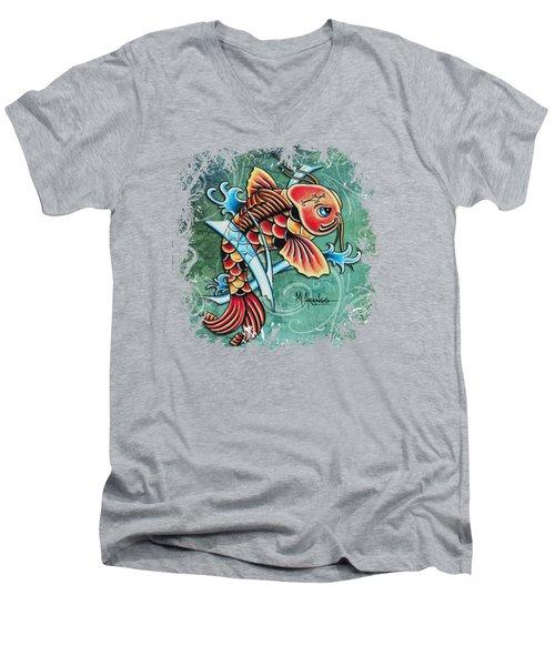 Perseverance Men's V-Neck T-Shirt by Maria Arango