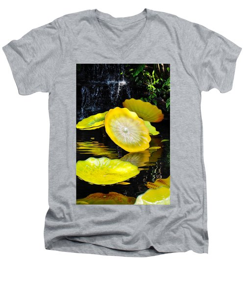 Persian Lily Pads Men's V-Neck T-Shirt by Kyle Hanson