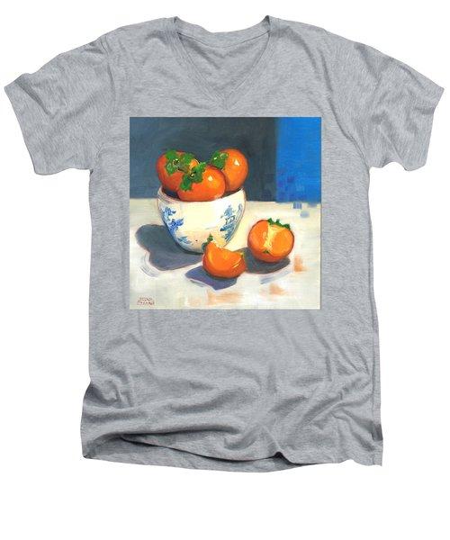 Persimmons Men's V-Neck T-Shirt by Susan Thomas