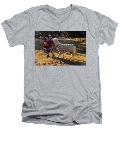 Peru Men's V-Neck T-Shirt by Will Burlingham