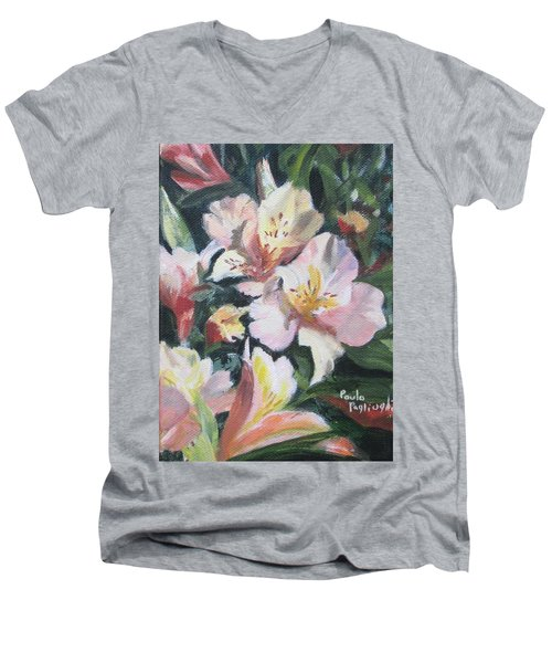 Peruvian Lily Men's V-Neck T-Shirt