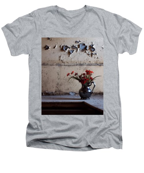 Petals And Peeling Paint - Preston Castle Men's V-Neck T-Shirt