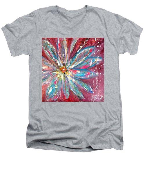Petals Exploding Men's V-Neck T-Shirt