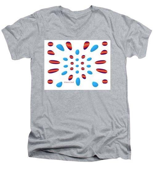 Petals N Dots P5 Men's V-Neck T-Shirt