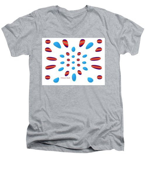 Petals N Dots P5 Men's V-Neck T-Shirt