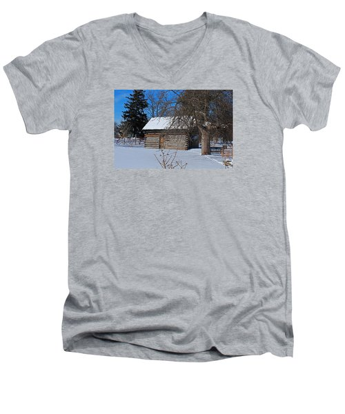 Peter Navarre Cabin II Men's V-Neck T-Shirt