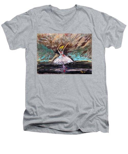 Petite Ballerina Men's V-Neck T-Shirt