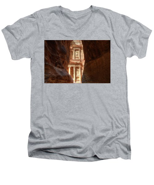 Petra Treasury Revealed Men's V-Neck T-Shirt