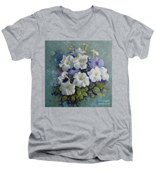 Petunias Symphony Men's V-Neck T-Shirt