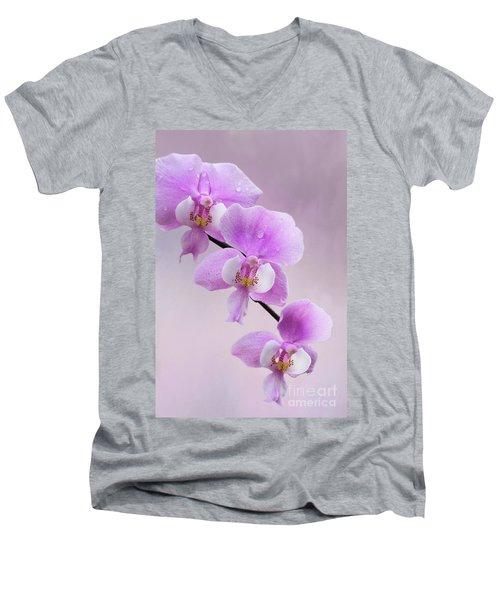 Phalaenopsis Schilleriana Fragrant Butterfly Orchid V2 Men's V-Neck T-Shirt