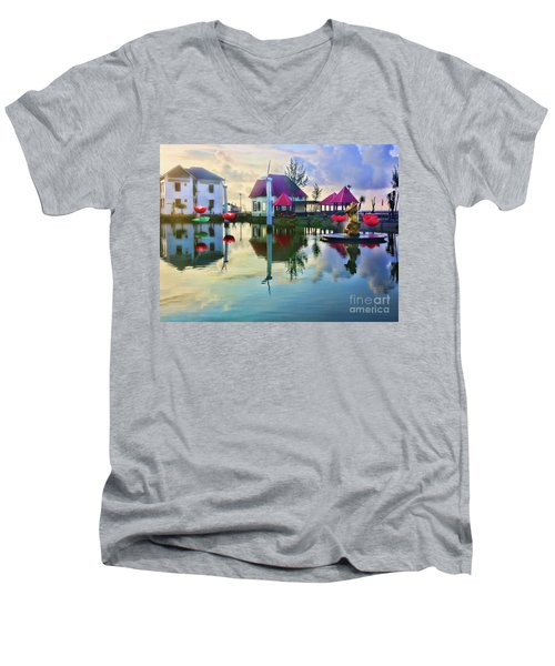 Phan Thiet Coast I Men's V-Neck T-Shirt by Chuck Kuhn