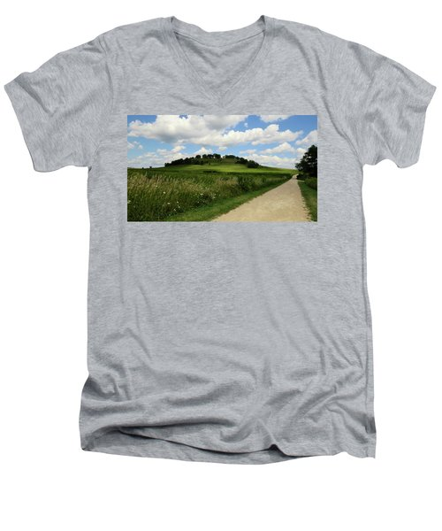 Men's V-Neck T-Shirt featuring the photograph Pheasant Branch Hill by Kimberly Mackowski