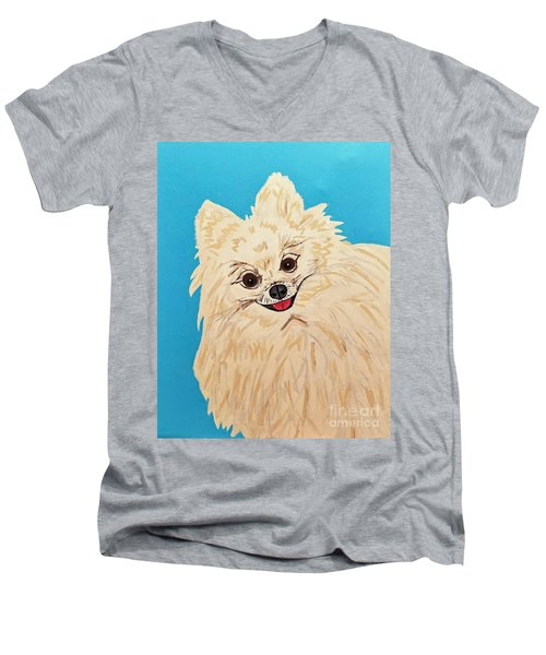 Phebe Date With Paint Nov 20th Men's V-Neck T-Shirt
