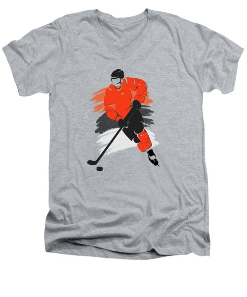 Philadelphia Flyers Player Shirt Men's V-Neck T-Shirt