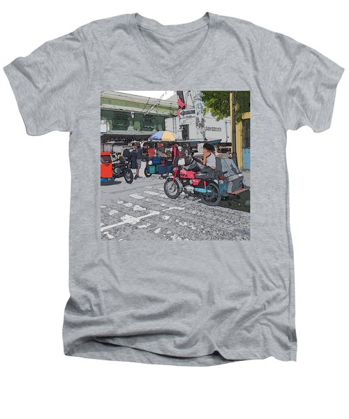 Philippines 673 Street Food Men's V-Neck T-Shirt