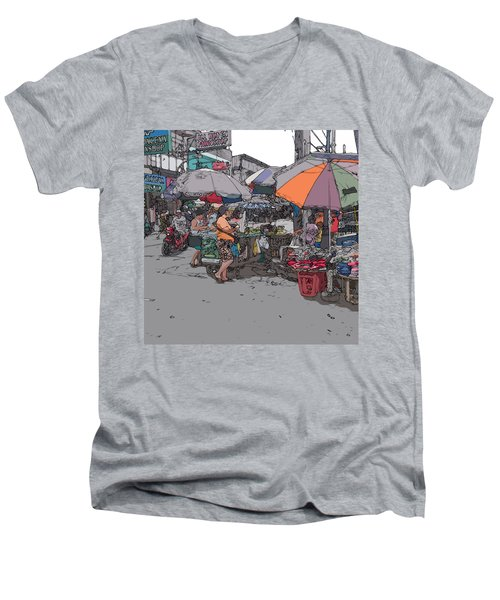 Philippines 708 Market Men's V-Neck T-Shirt