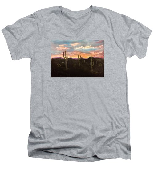 Phoenix Az Sunset Men's V-Neck T-Shirt
