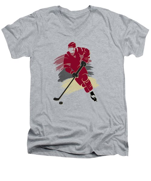 Phoenix Coyotes Player Shirt Men's V-Neck T-Shirt by Joe Hamilton