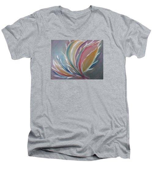 Phoenix Rising Men's V-Neck T-Shirt by Sharyn Winters
