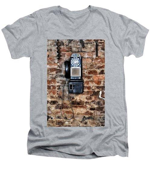 Pay Phone  Men's V-Neck T-Shirt