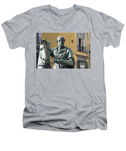 Piazza Del Plebiscito Men's V-Neck T-Shirt