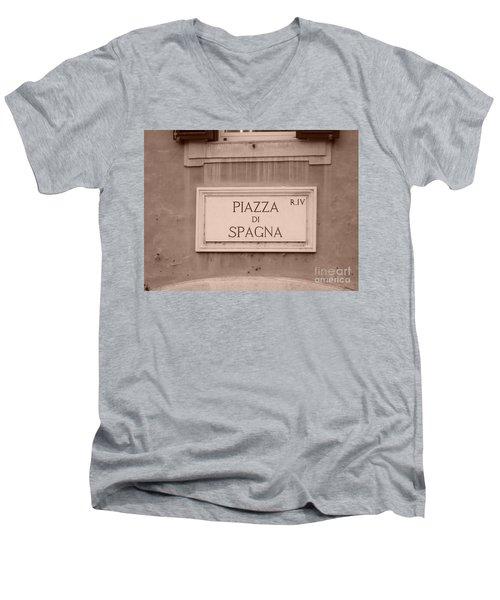 Piazza Di Spagna Men's V-Neck T-Shirt