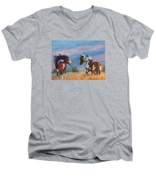 Picasso Challenge Men's V-Neck T-Shirt by Karen Kennedy Chatham