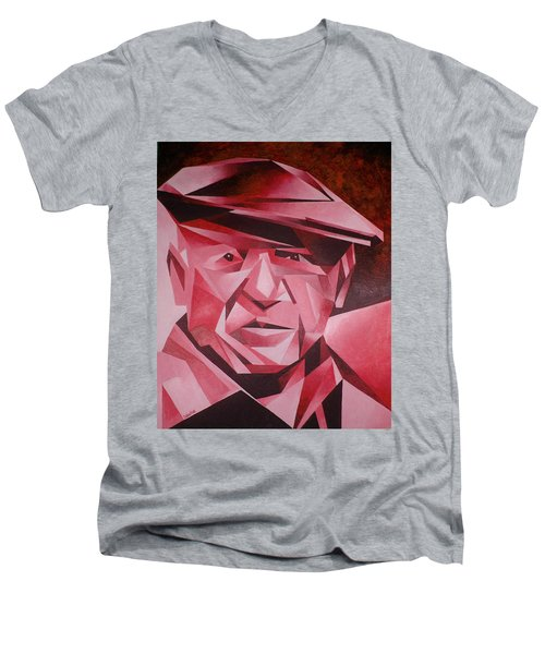 Picasso Portrait The Rose Period Men's V-Neck T-Shirt