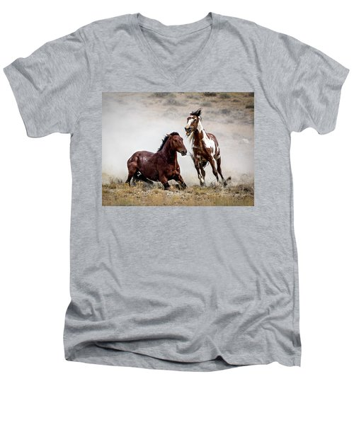 Picasso - Wild Stallion Battle Men's V-Neck T-Shirt