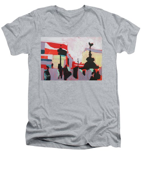 Piccadilly Circus Men's V-Neck T-Shirt by Nop Briex