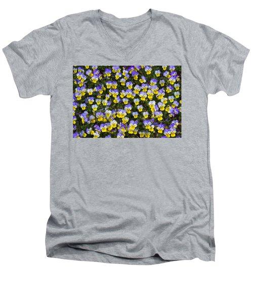 Pick Me-pansies Men's V-Neck T-Shirt