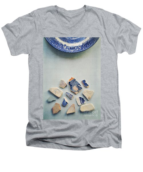 Picking Up The Broken Pieces Men's V-Neck T-Shirt