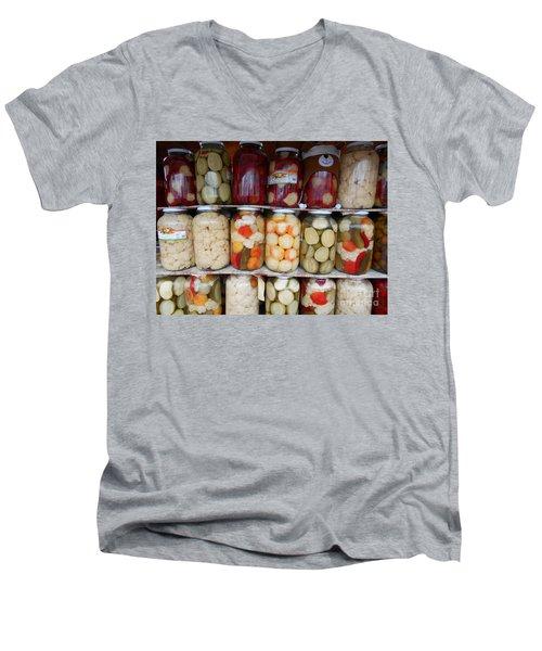 Pickles Anyone?  Men's V-Neck T-Shirt