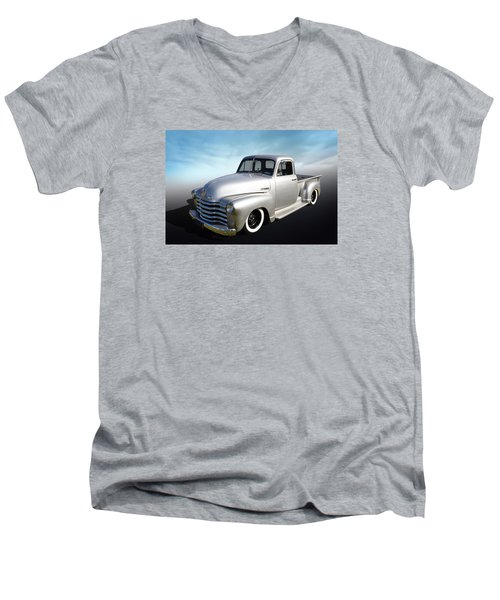 Men's V-Neck T-Shirt featuring the photograph Pickup Truck by Keith Hawley