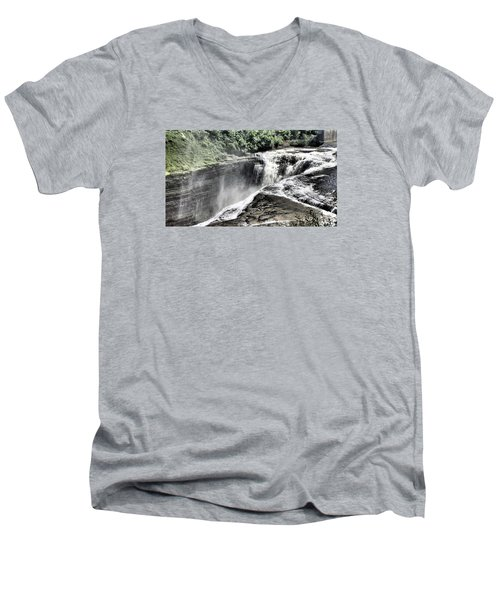 Picture Of Waterfalls At Letchworth Men's V-Neck T-Shirt