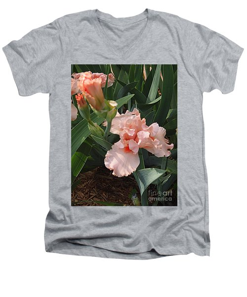 Picture Peach Men's V-Neck T-Shirt by Nancy Kane Chapman