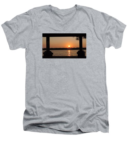 Picture Perfect Sunset Men's V-Neck T-Shirt by Teresa Schomig
