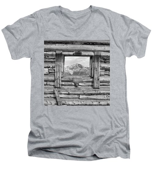 Men's V-Neck T-Shirt featuring the photograph Picture Window #2 by Eric Glaser