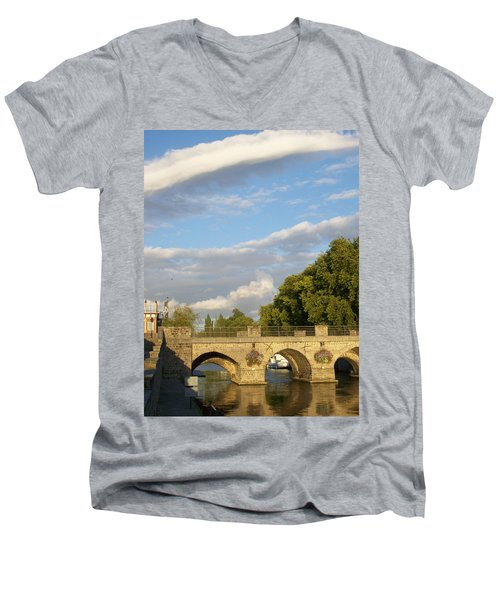 Men's V-Neck T-Shirt featuring the photograph Picturesque by Mary Mikawoz