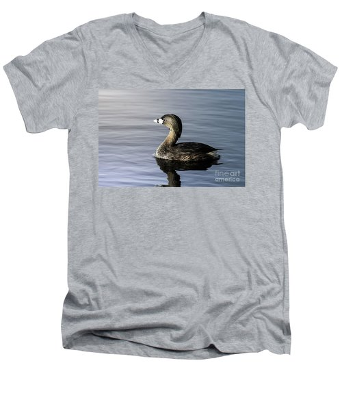 Men's V-Neck T-Shirt featuring the photograph Pied-billed Grebe by Robert Frederick