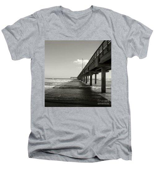 Pier 1 Men's V-Neck T-Shirt by Sebastian Mathews Szewczyk