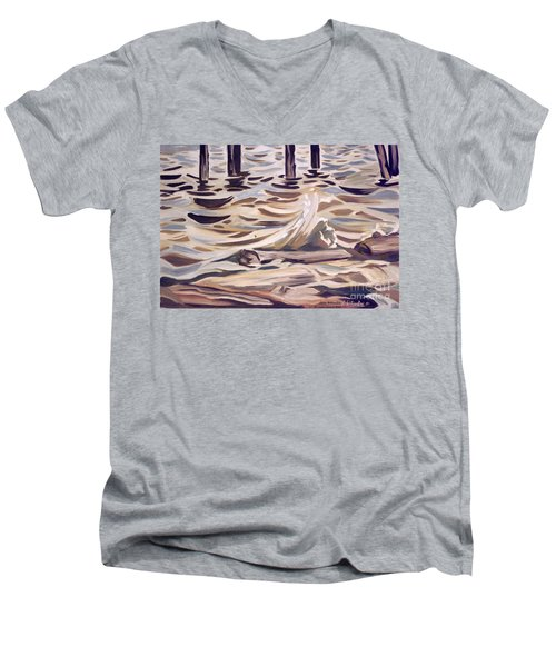 Pier At Granthams Landing Men's V-Neck T-Shirt