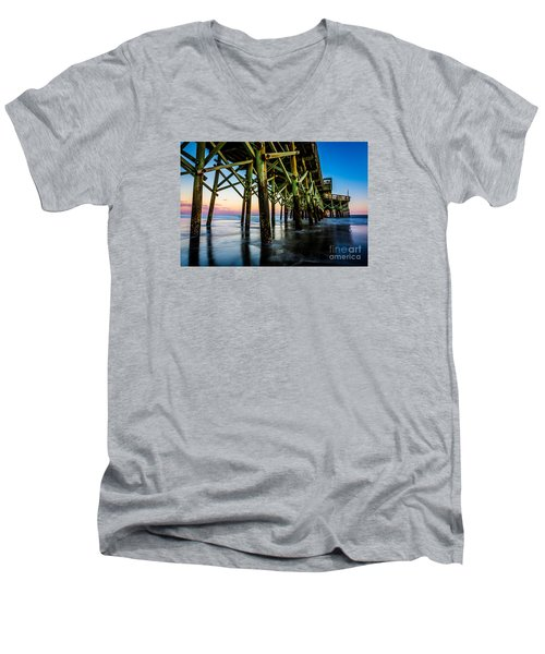 Pier Perspective Men's V-Neck T-Shirt by David Smith